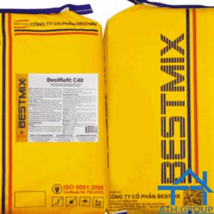 BestRefit C40 - Vữa sửa chữa, dặm vá mỏng bề mặt bê tông